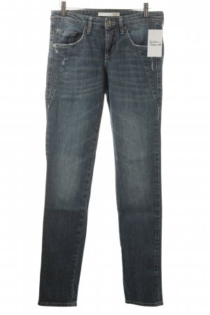 Mac Slim Jeans blassblau Used-Optik