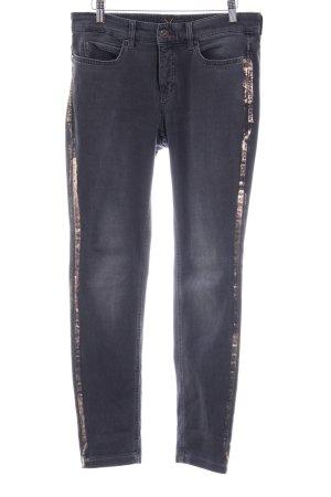 Mac Slim Jeans dunkelgrau-roségoldfarben Street-Fashion-Look