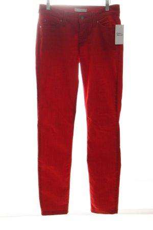Mac Slim Jeans rot meliert Casual-Look