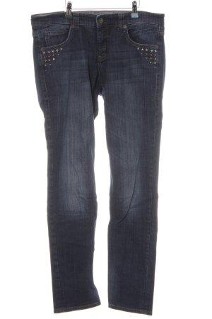 Mac Slim Jeans stahlblau Jeans-Optik