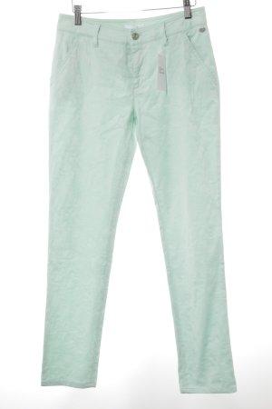 Mac Slim Jeans türkis Paisleymuster Romantik-Look