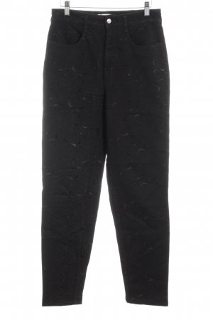 Mac Stoffen broek zwart verfraaid patroon casual uitstraling