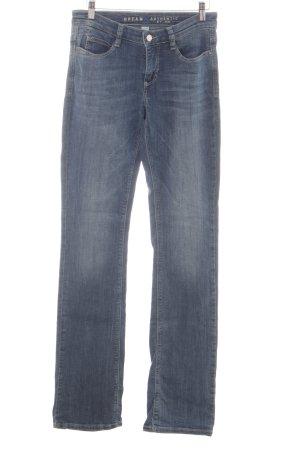 Mac Straight-Leg Jeans neonblau Jeans-Optik