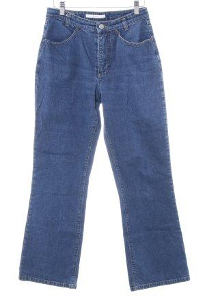 Mac Jeans met rechte pijpen donkerblauw casual uitstraling