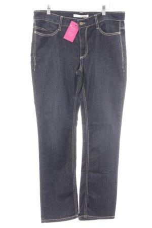 Mac Straight-Leg Jeans dunkelblau-hellbeige Casual-Look