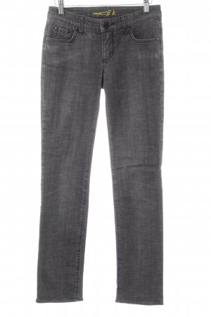 Mac Straight-Leg Jeans dunkelgrau Schriftzug gedruckt Casual-Look