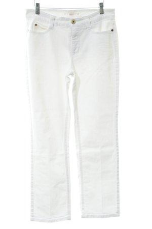 Mac Straight-Leg Jeans weiß-goldfarben Casual-Look
