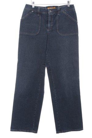 Mac Stretch Jeans dark blue casual look