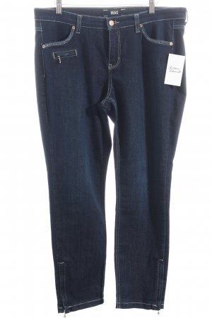 Mac Stretch Jeans dunkelblau Eleganz-Look