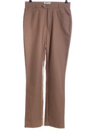 Mac Pantalon strech brun imprimé allover style décontracté