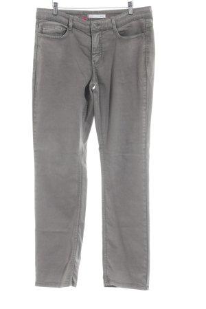 Mac Pantalone elasticizzato marrone-grigio Tessuto misto