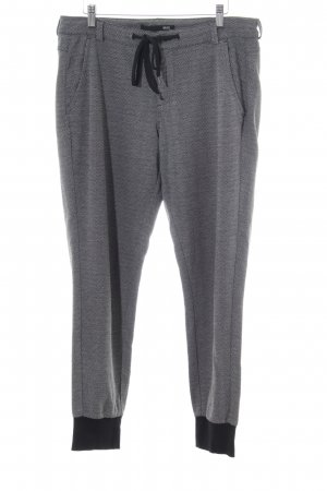 Mac Joggingbroek zwart-wit zigzag patroon casual uitstraling