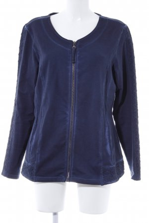 Mac Sweatjacke dunkelblau Casual-Look