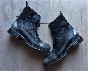 Chukka boot noir-argenté