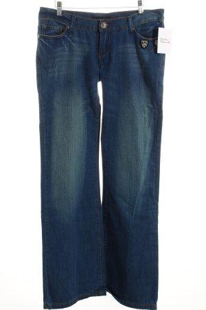 Macao Jeans bootcut bleu style décontracté