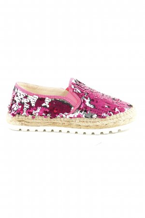 Macarena Espadrilles Sandalen silberfarben pink extravaganter Stil