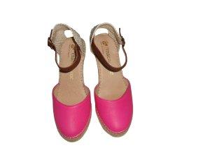 Macarena Leder Echtleder Glattleder Espadrilles Wedges pink beige Gr. 37 neu