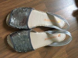 Macarena Espadrille sandalen grijs-zilver