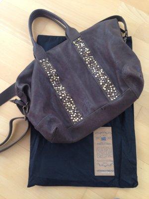 Macduff großer Shopper mit Nieten Cowboysbag Leder Crossbody Bag Tasche