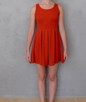 Machima - oranges strick Kleid