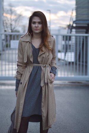 Machima Vestido de tela de sudadera gris tejido mezclado