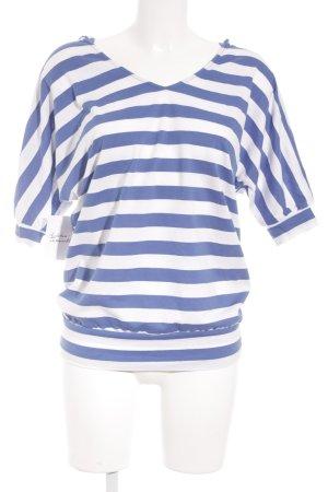 Machima T-Shirt hellbeige-blau Streifenmuster Street-Fashion-Look