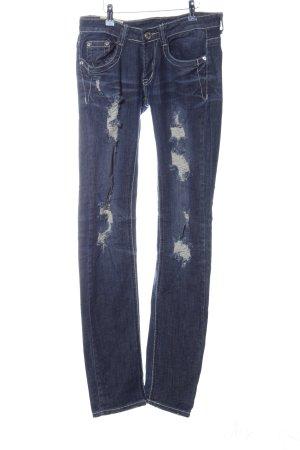 Machine Slim Jeans blue casual look