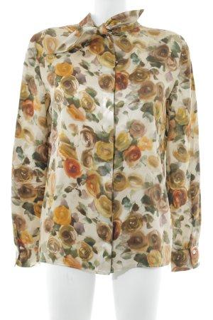 MACHKA Blouse brillante motif de fleur élégant