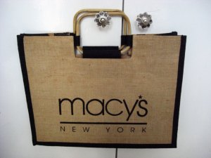 Carry Bag sand brown recycled material