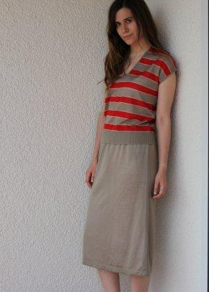 Mad Men Vintage Zweiteilig FeinStrick Sommer Kleid Streifen