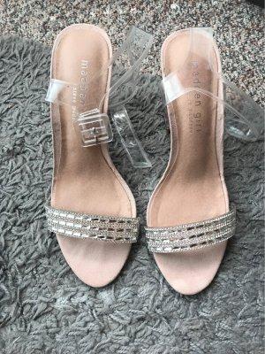 Steve Madden Strapped High-Heeled Sandals pink-white