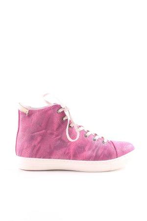 Made by Heart Schnürsneaker pink-wollweiß sportlicher Stil