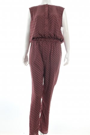 Made for Loving Jumpsuit bordeauxrot-schwarz abstraktes Muster Casual-Look