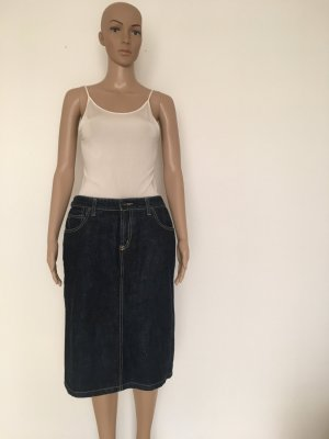 Made in Australia yakka 10 denim jeans rock Jeansrock denimrock Midi Schlitz Taschen raw dunkel