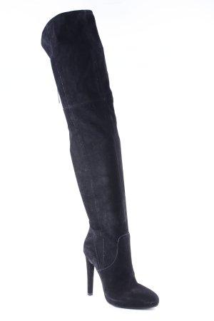 Made in Italy Laarzen met hak zwart extravagante stijl
