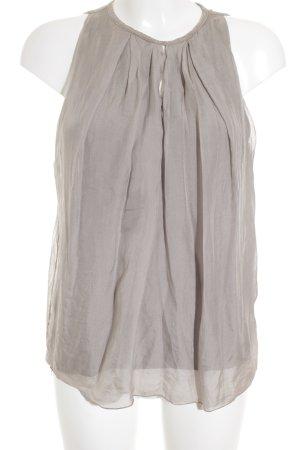 Made in Italy ärmellose Bluse graubraun schlichter Stil