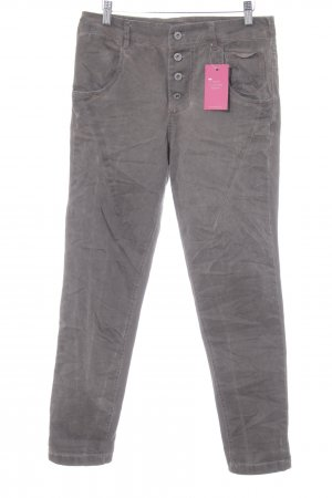 Made in Italy Pantalone largo marrone-grigio stile casual