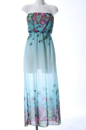 Made in Italy Vestido bandeau estampado floral look casual