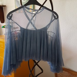 """Made in Italy"" Bluse Cape Netz Tüll GrS/M"