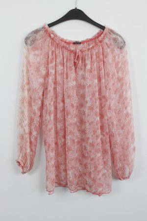 Made in Italy Bluse Gr. S rosa/apricot transparent (18/9/172)