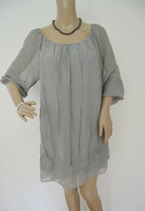 Made In Italy Bluse grau gemustert