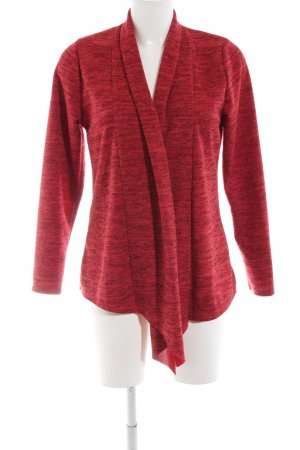 Made in Italy Cardigan rot meliert Casual-Look
