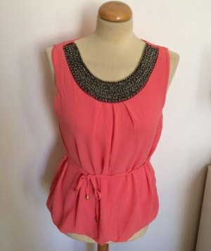 Made in Italy Chiffon Statement Top Koralle Gr S