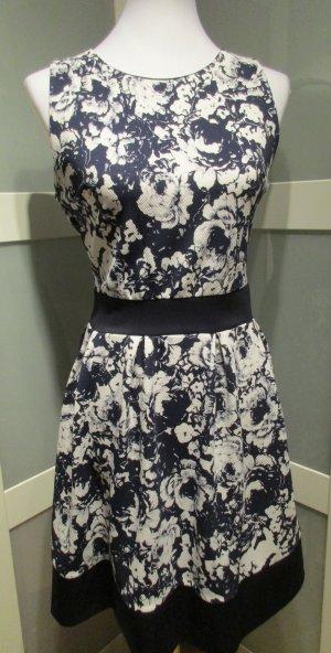 Made in Italy, Cocktailkleid, festliches Kleid, weiß-blau, Größe 36/38