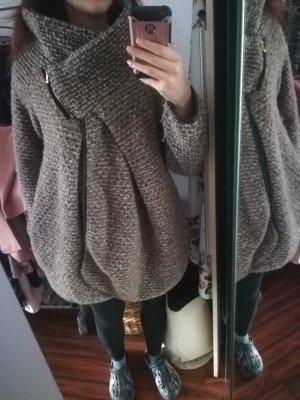 Made in Italy Veste oversize gris-brun