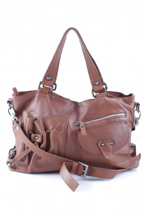Made in Italy Henkeltasche cognac Casual-Look