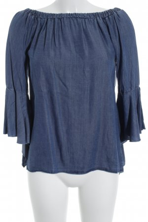 Made in Italy Jeansbluse dunkelblau Casual-Look