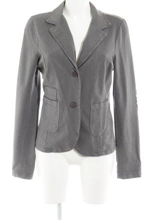 Made in Italy Jerseyblazer grau-silberfarben Sternenmuster Casual-Look