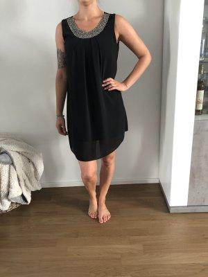 0039 Italy Robe à manches courtes noir