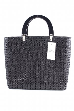 Made in Italy Basket Bag black-silver-colored beach look